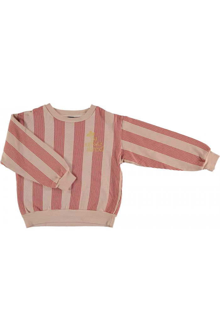 sweatshirt multi stripes dusty coral