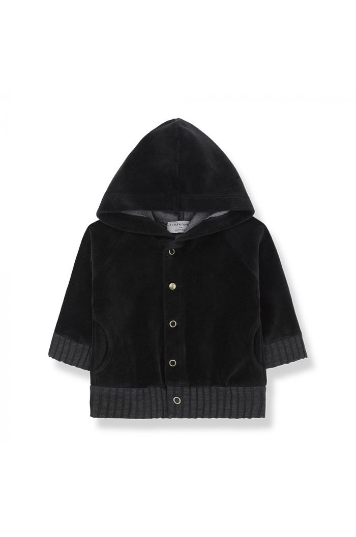 1+ in the family VOLOS hood jacket Black