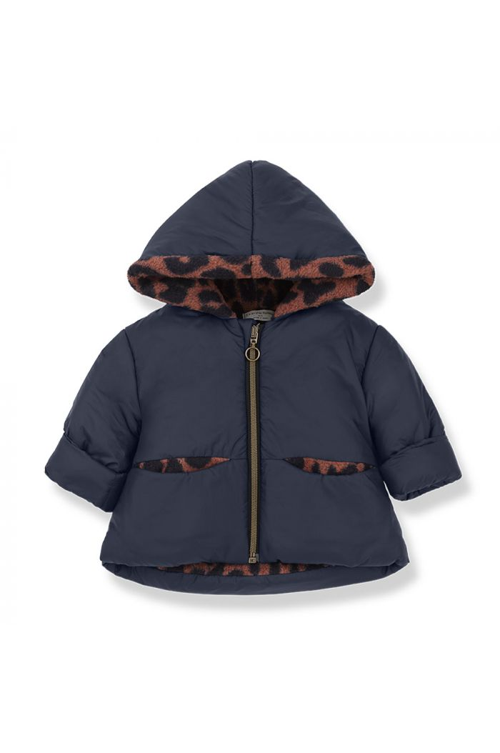 1+ in the family REGINA hood jacket blue/caldera