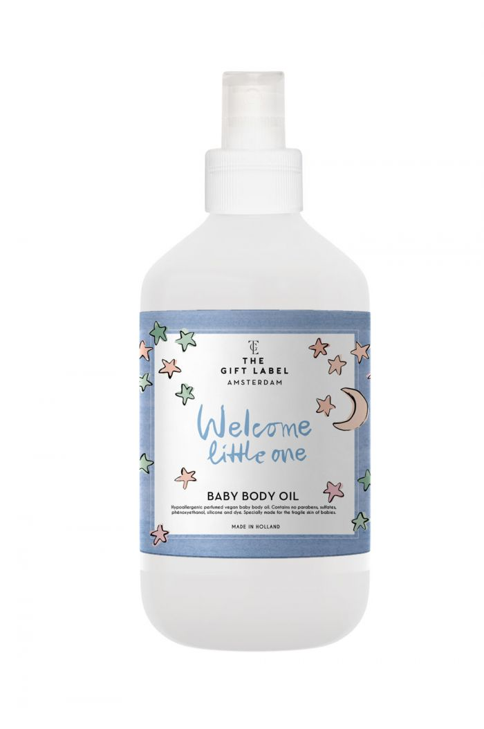 The Gift Label Baby Body Oil - Welcome Little One