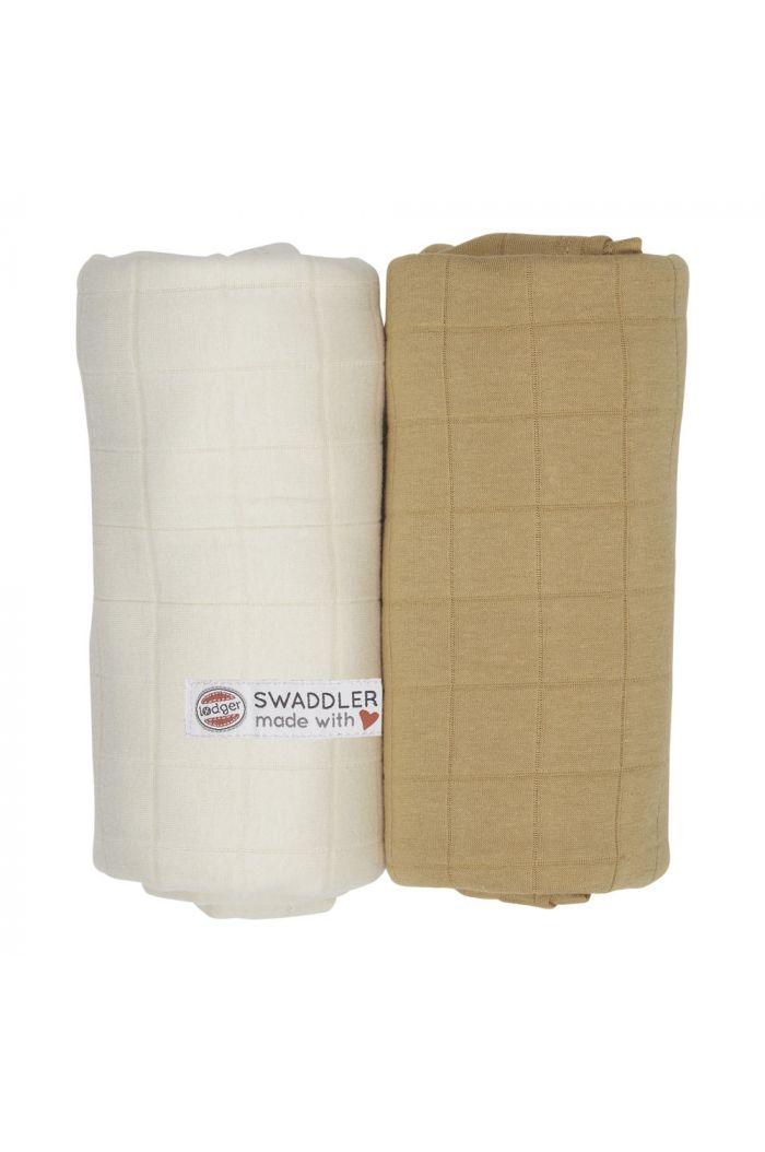 Lodger Swaddler Solid 2-pack Ivory/Honey