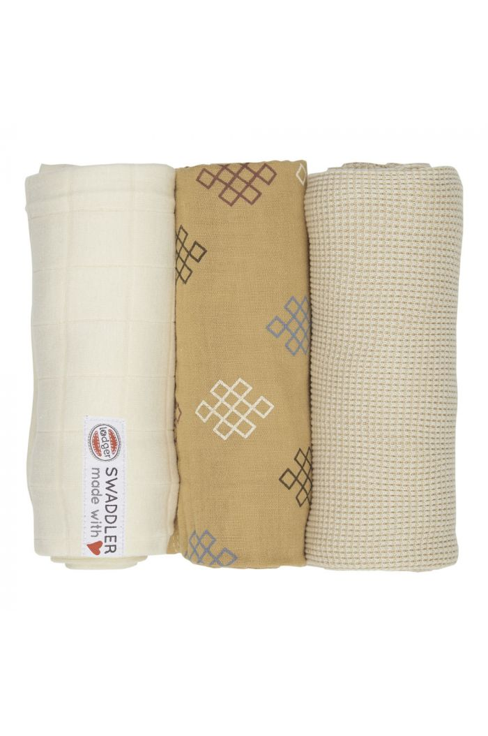 Lodger Swaddler Empire knot 3 -pack Ivory
