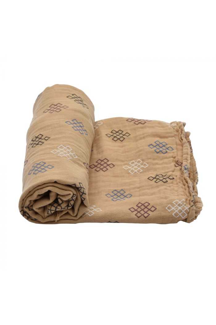 Lodger Swaddler Muslin Knot Xandu  Honey