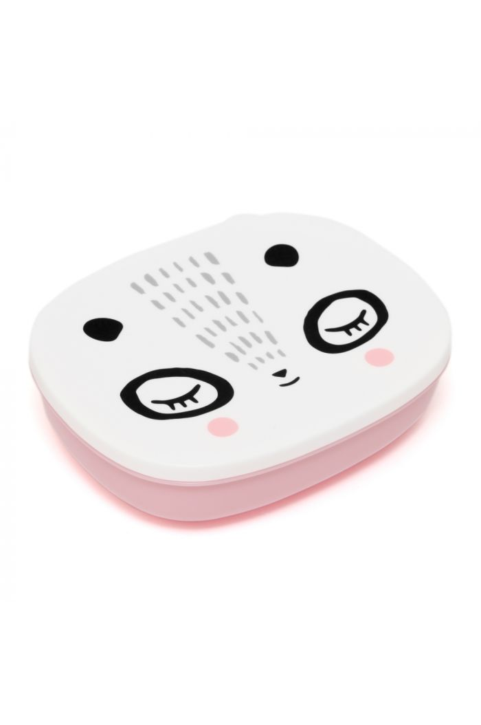 Petit Monkey lunchbox Mrs Panda pink