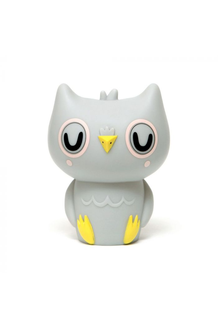 Petit Monkey Owl night light grey