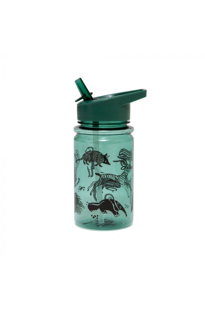 Petit Monkey Drinking Bottle Black Animals