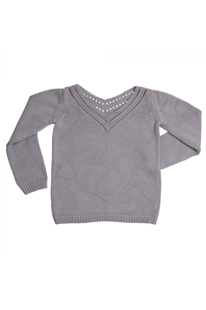 Blossom Kids Knitted jumper Ajour Misty Grey