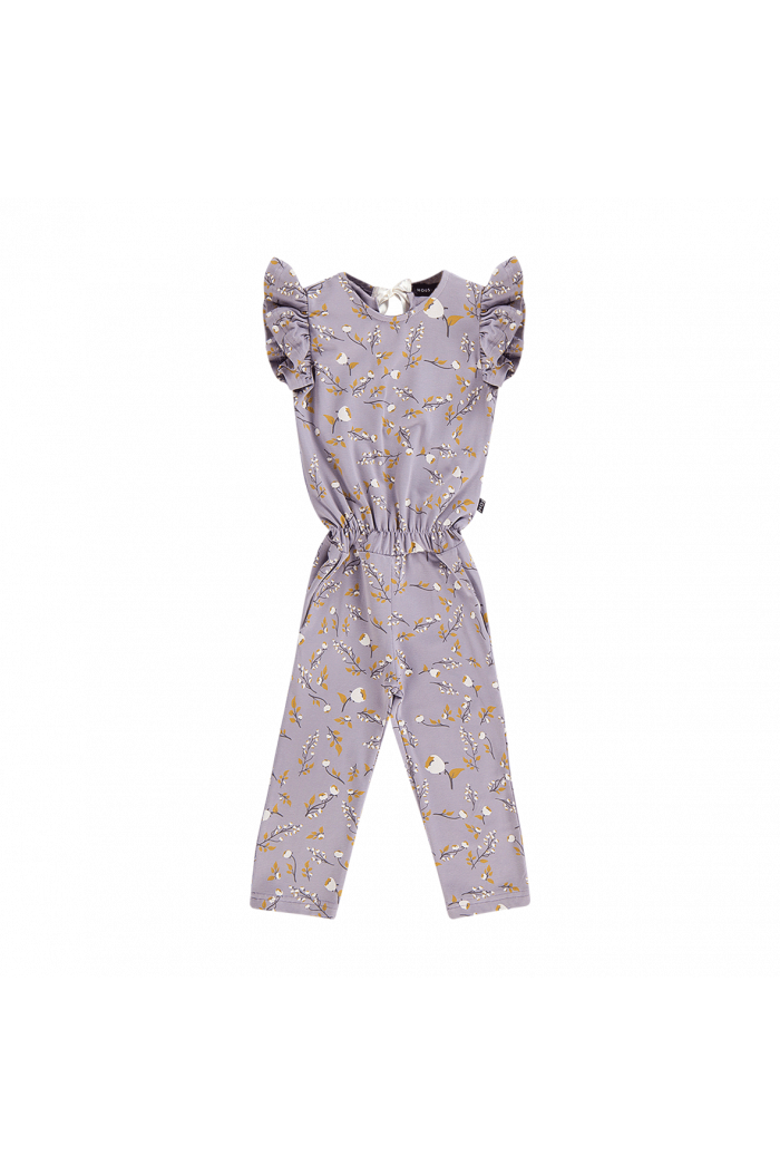 House Of Jamie Ruffled Jumpsuit Floral Dusty Lilac