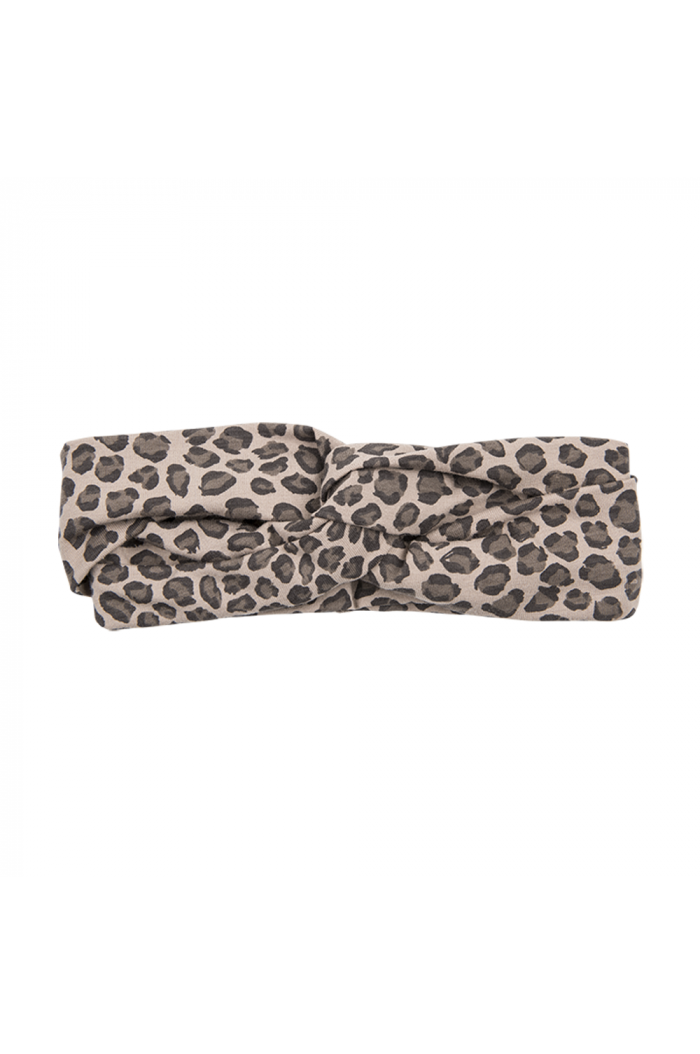 House Of Jamie Turban Headband Caramel Leopard
