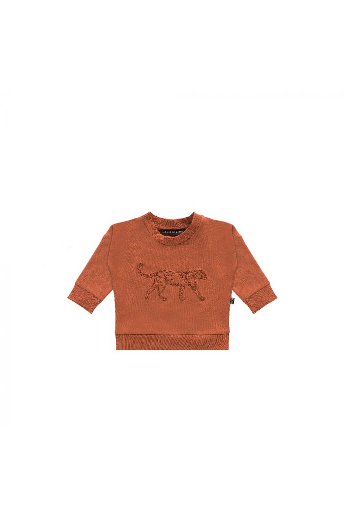 House Of Jamie Crewneck Sweater Rust Leo