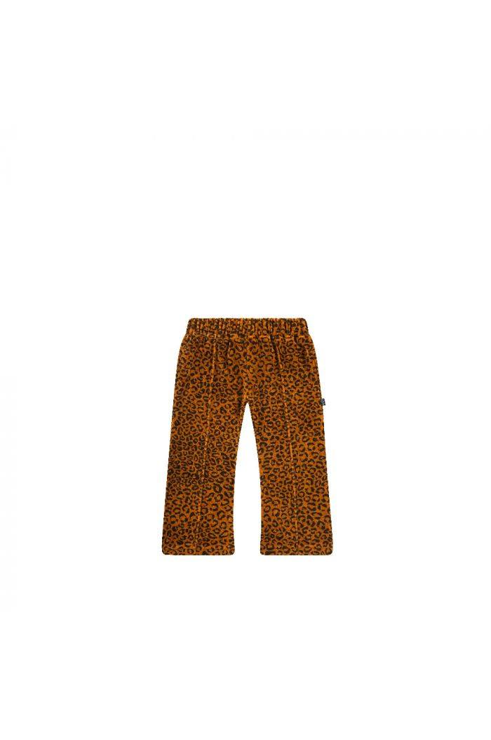 House Of Jamie Flared Pants Golden Brown Leopard