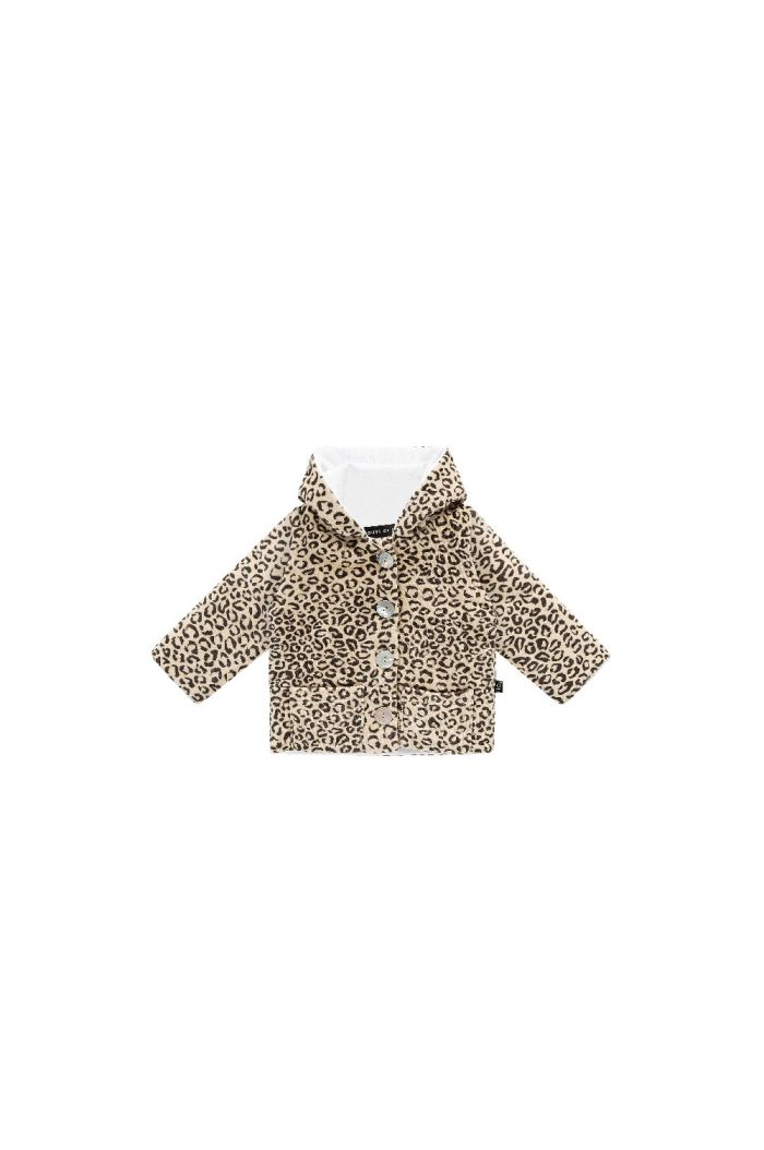 House Of Jamie Bow Tie Hooded Jacket Snow Leopard