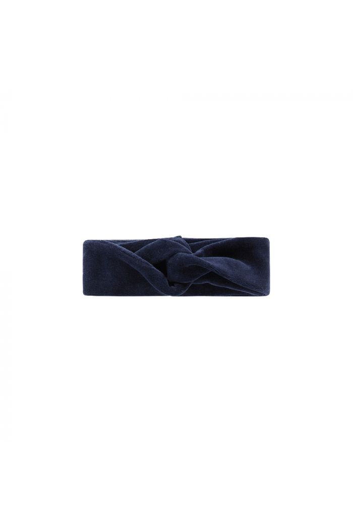 House Of Jamie Turban Headband  Midnight Velvet Blue