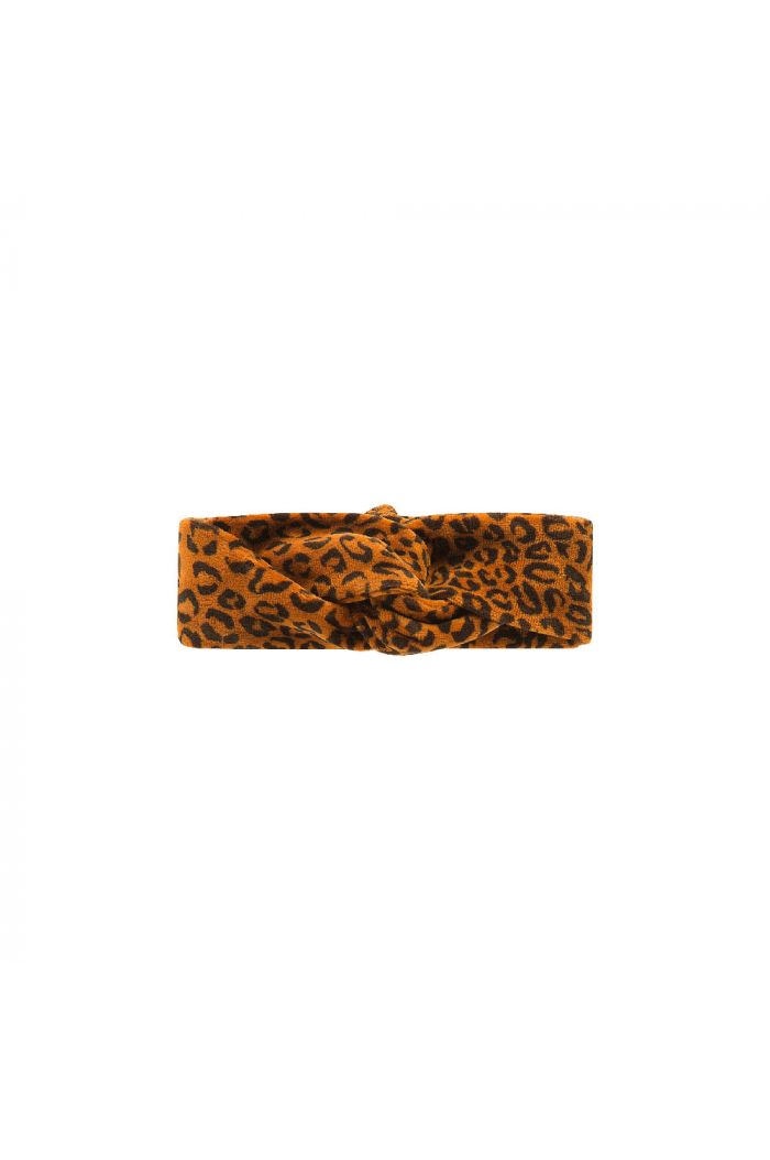 House Of Jamie Turban Headband  Golden Brown Leopard