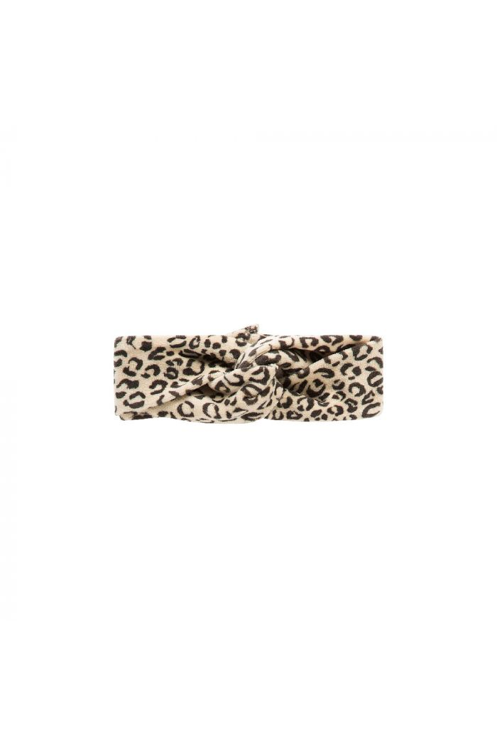 House Of Jamie Turban Headband  Snow Leopard