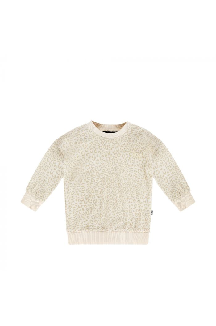 House Of Jamie Crewneck Sweater Cream Leopard