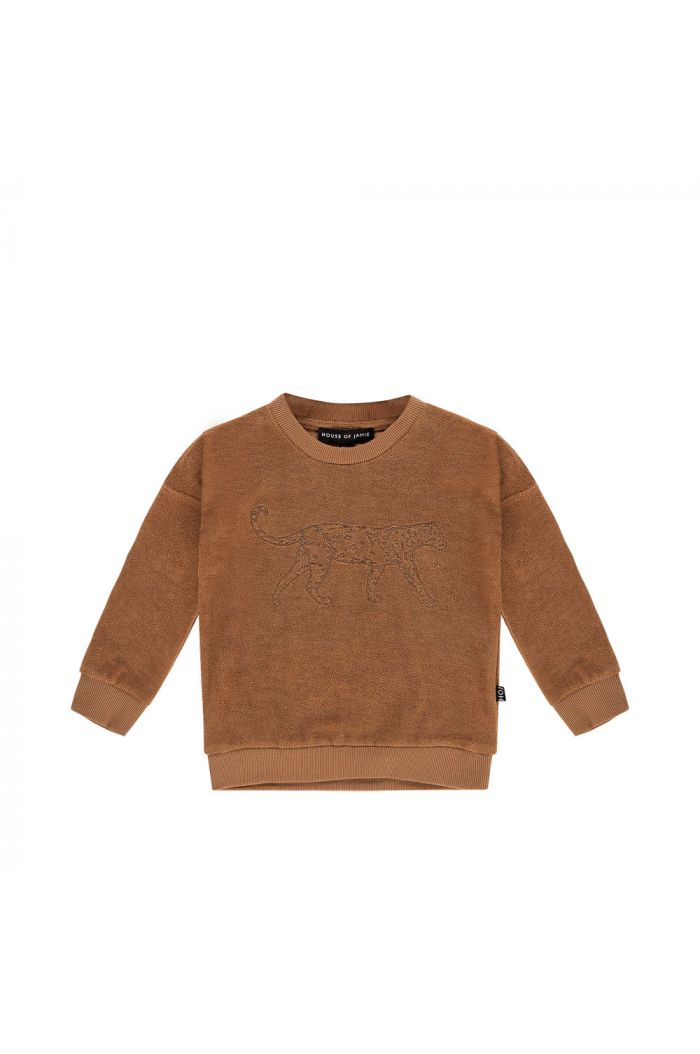House Of Jamie Crewneck Sweater Toffee Leo
