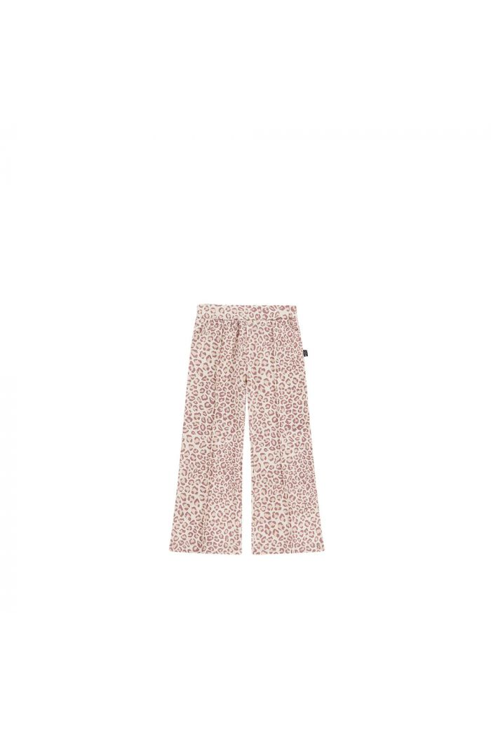 House Of Jamie Flared Pants Orchid Leopard