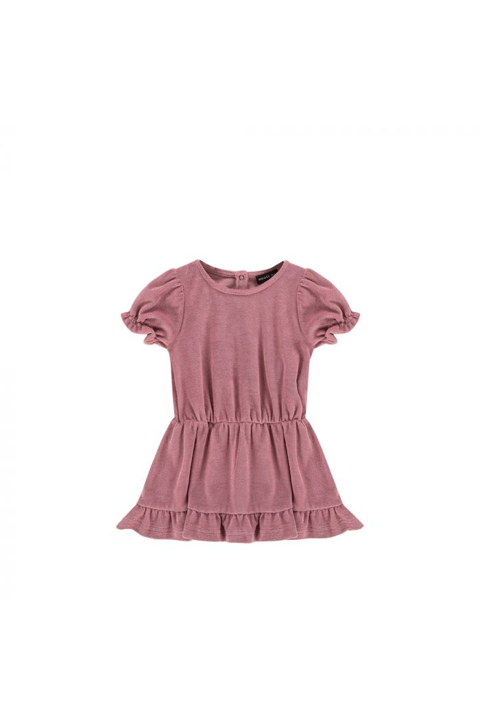 House Of Jamie Frill Dress Terry Orchid