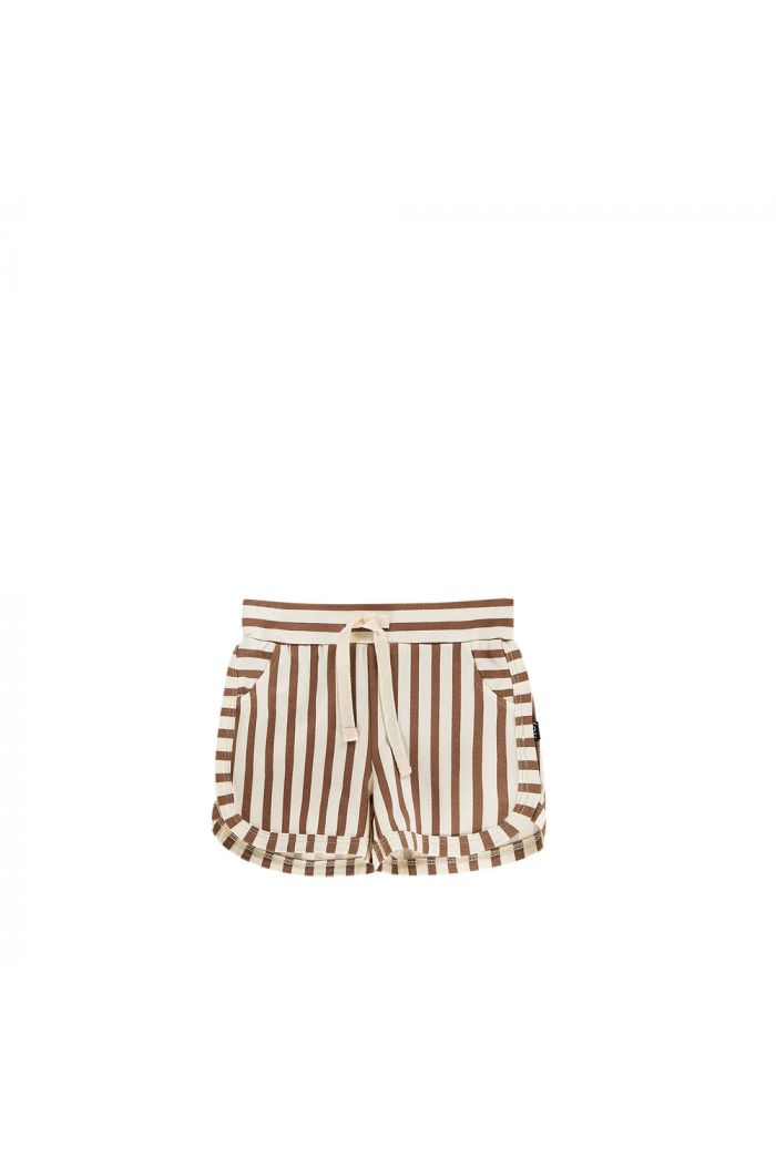 House Of Jamie Gym Shorts Toffee Stripes