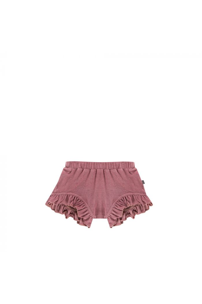 House Of Jamie Ruffled Shorts Orchid Terry