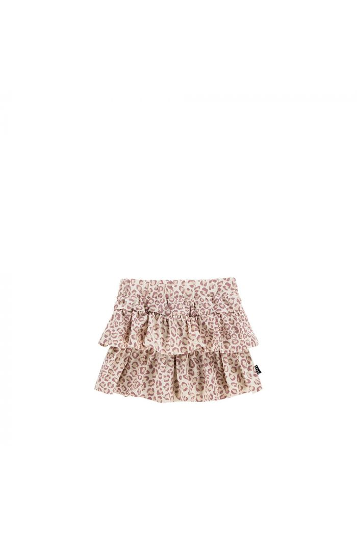 House Of Jamie Ruffled Skirt Orchid Leopard