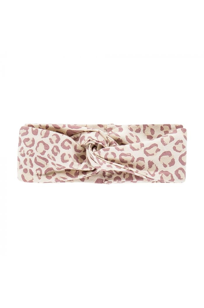House Of Jamie Turban Headband Orchid Leopard