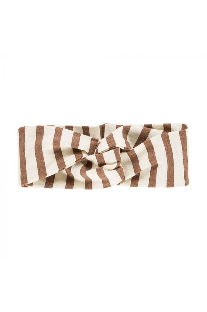 House Of Jamie Turban Headband Toffee Stripes