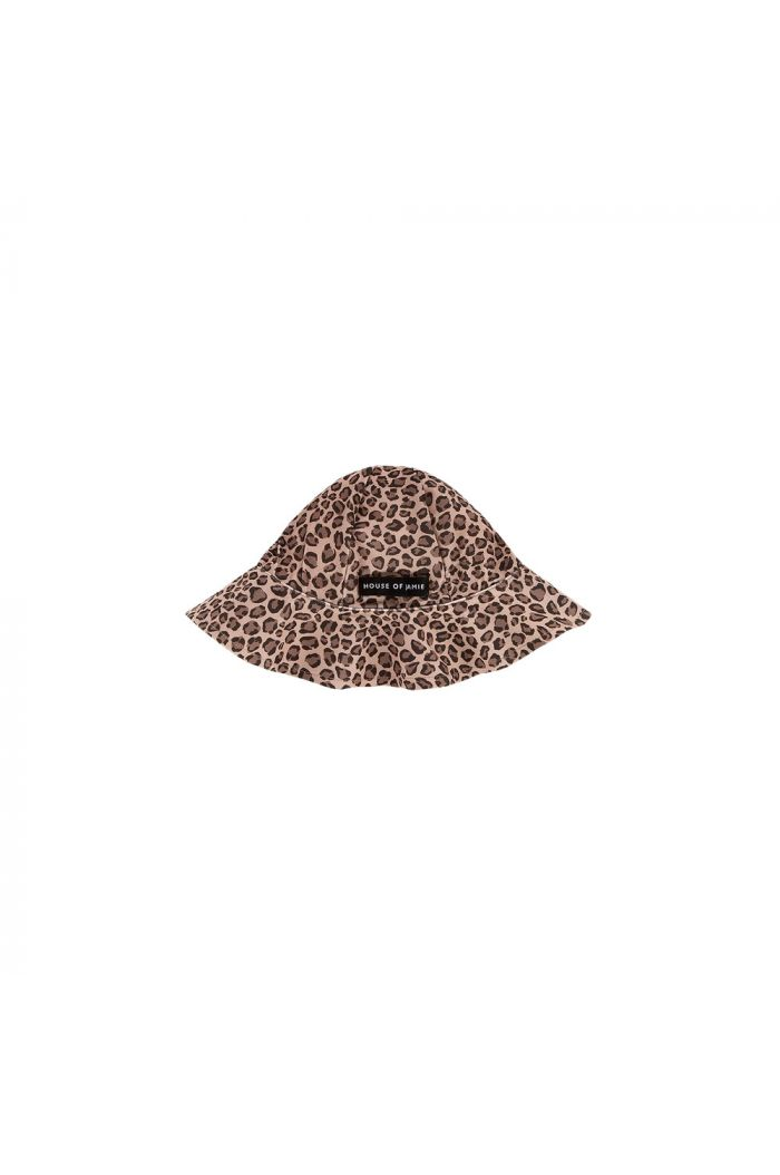 House Of Jamie Uv Swim Hat Caramel Leopard