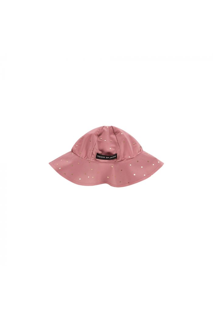 House Of Jamie Uv Swim Hat Orchid Golden Dots