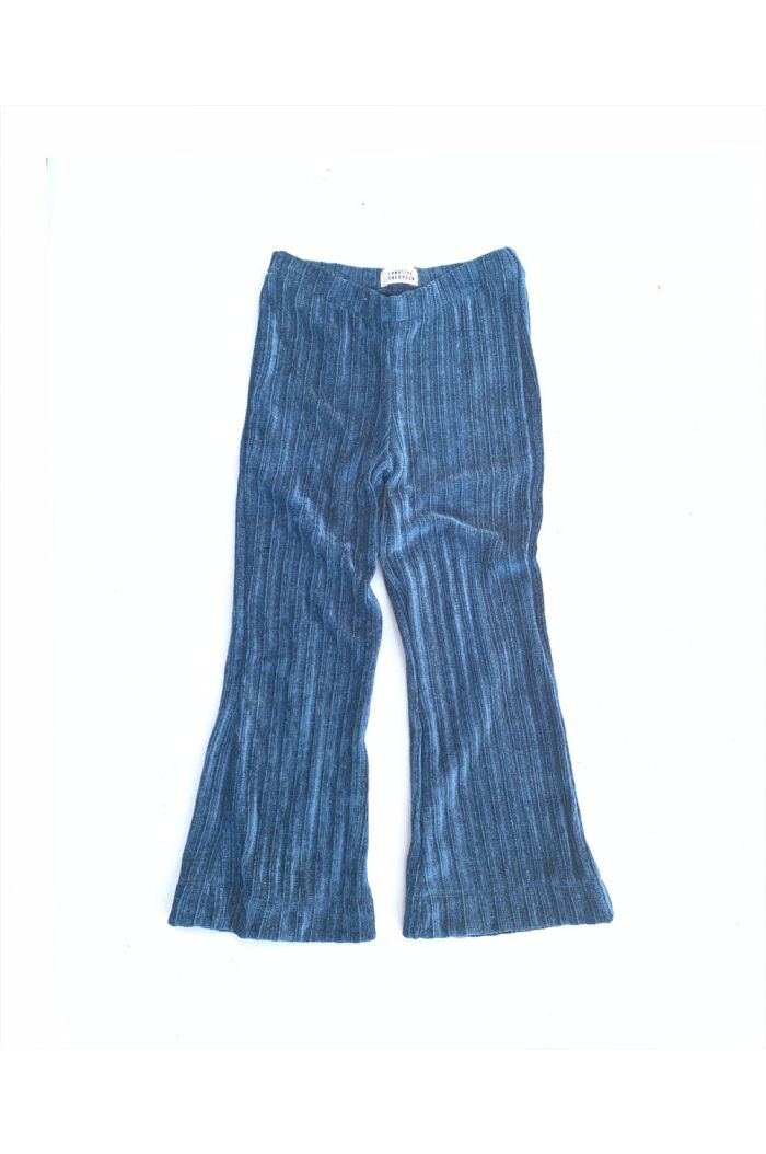 Longlivethequeen flared velvet pants real teal ribbed rib