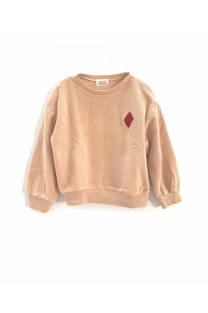 Longlivethequeen rough terry sweater pumpkin