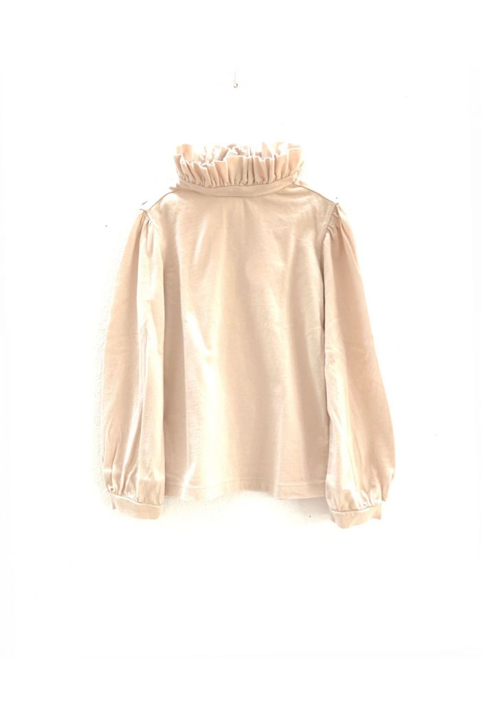 Longlivethequeen Ruffle Neck tee offwhite