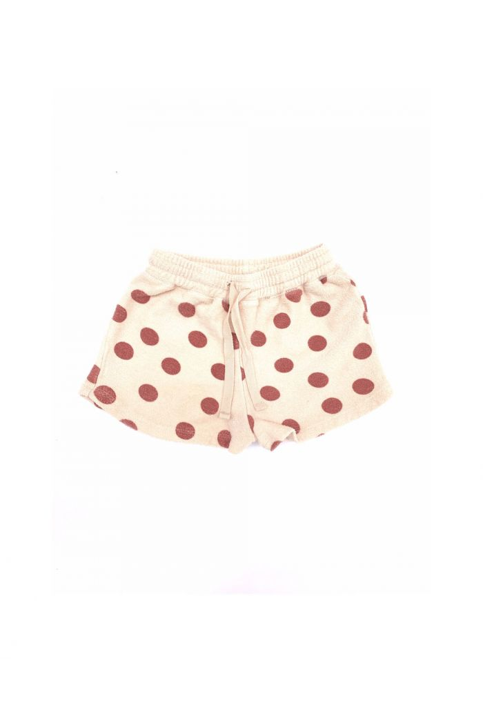 Longlivethequeen terry shorts brown dots