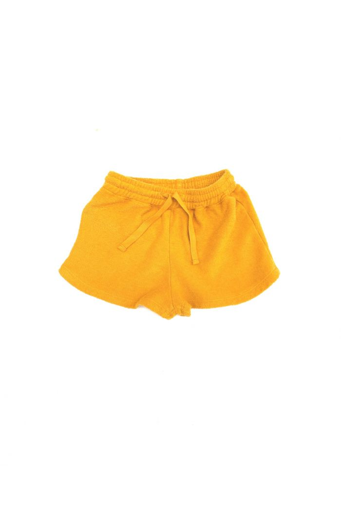 Longlivethequeen terry shorts golden yellow