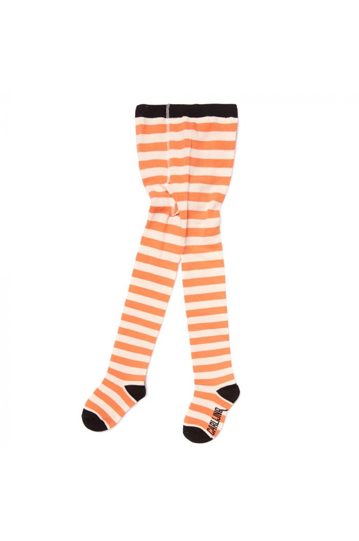 CarlijnQ tights stripes peach / off-white
