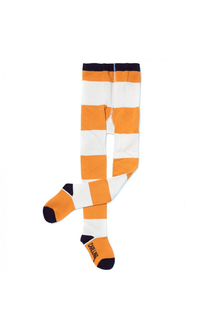 CarlijnQ tights big stripes yellow / off-white