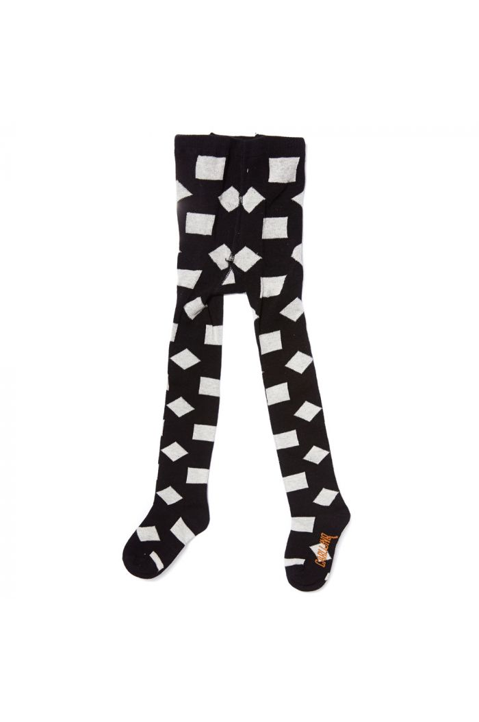 CarlijnQ tights checkers black / off-white