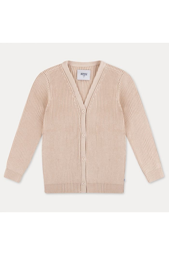 Repose AMS Knit Cardigan Sand Ivory