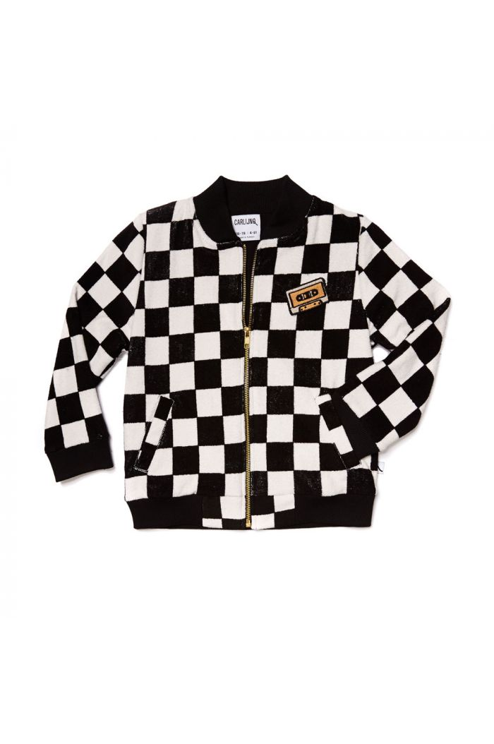 CarlijnQ bomber with casette checkers