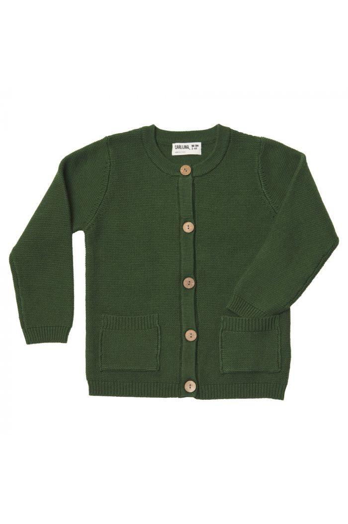 CarlijnQ cardigan with pockets (green)  Knit basics