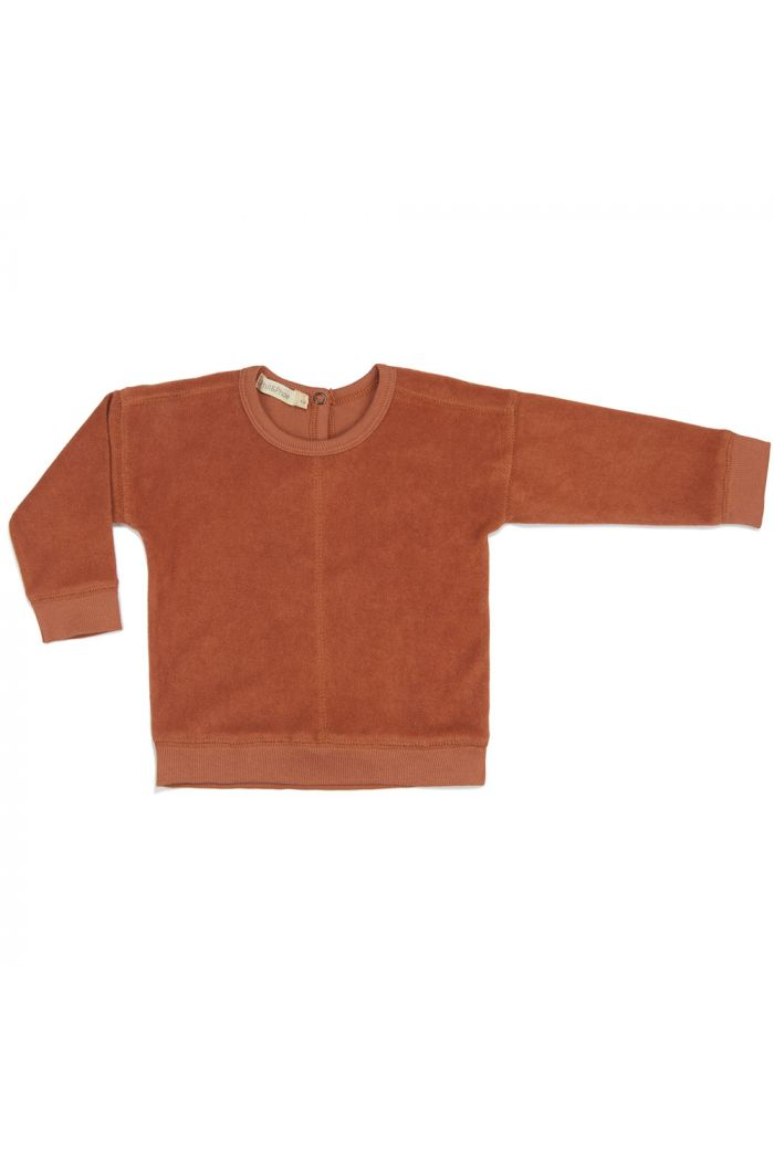 Phil&Phae Frotté sweater burnt clay