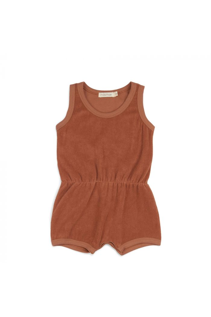 Phil&Phae Frotté playsuit burnt clay