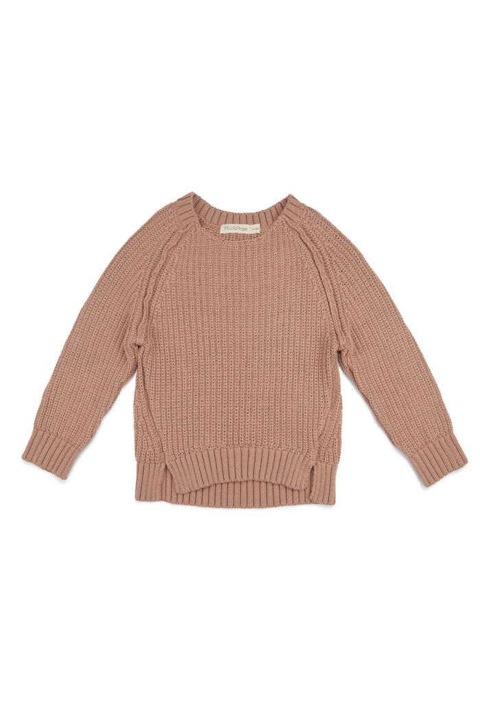 Phil&Phae Chunky knit sweater dusty nude