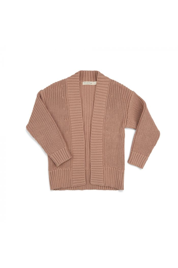Phil&Phae Chunky knit cardigan dusty nude