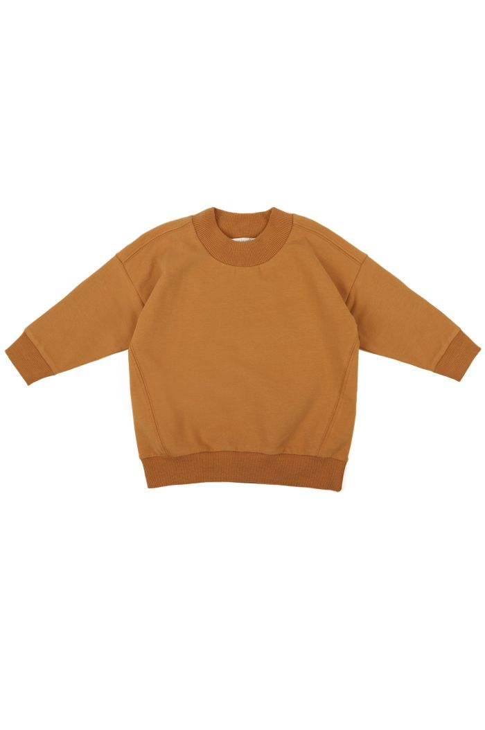 Phil&Phae Oversized rib-neck sweater Gold ochre