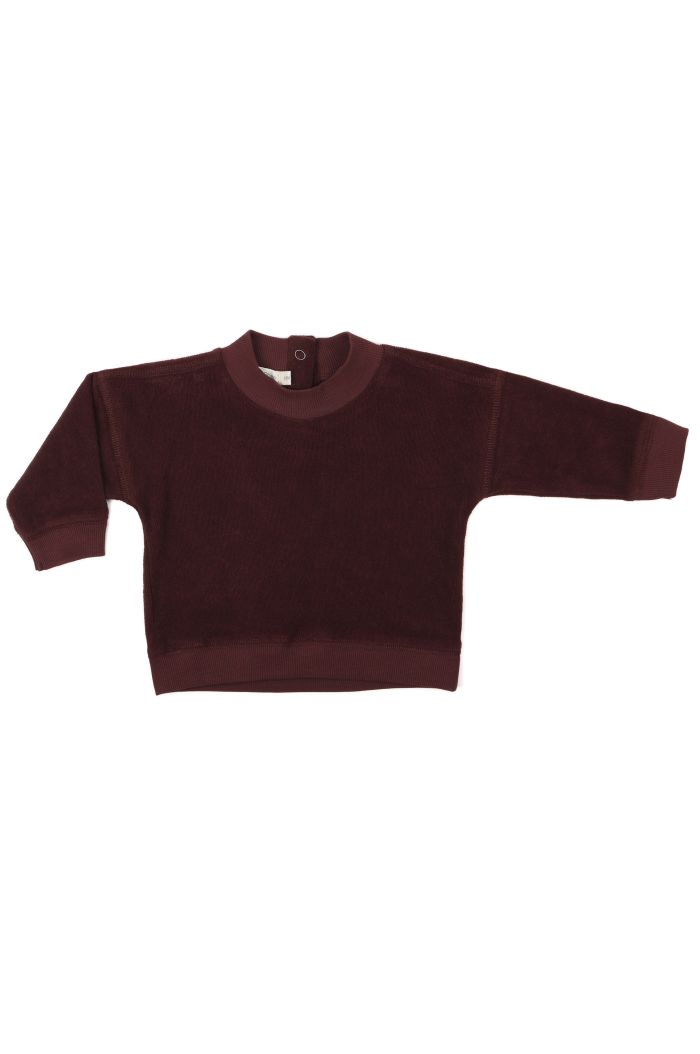 Phil&Phae Frotté baby sweater Aubergine