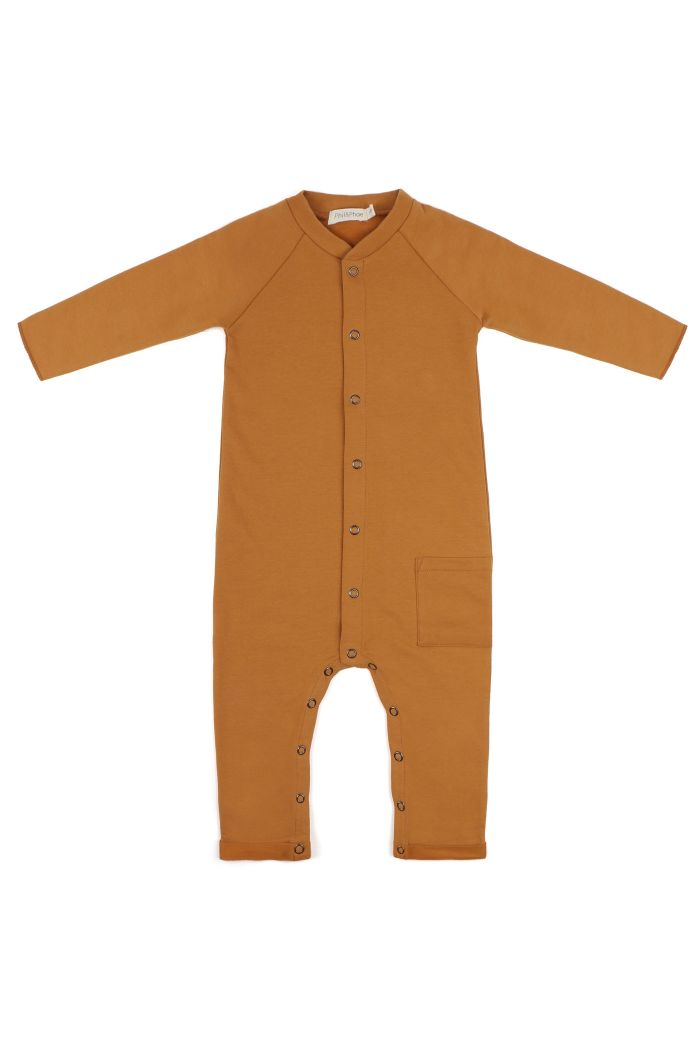 Phil&Phae Sweat jumpsuit Gold ochre