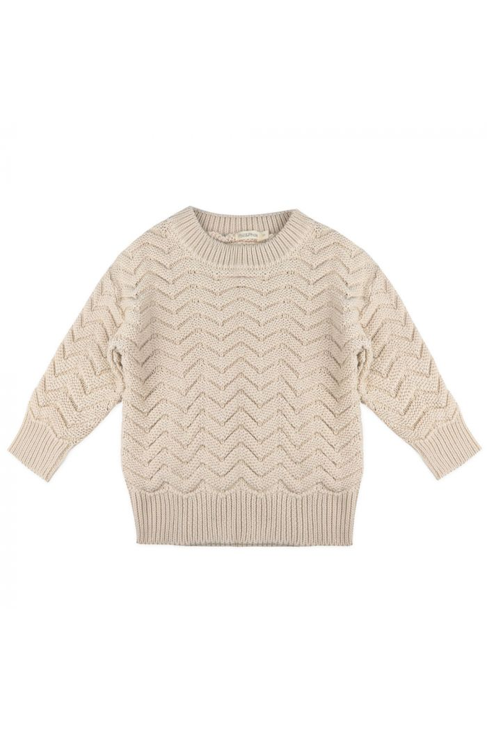 Phil&Phae Chevron Knit Sweater Oatmeal