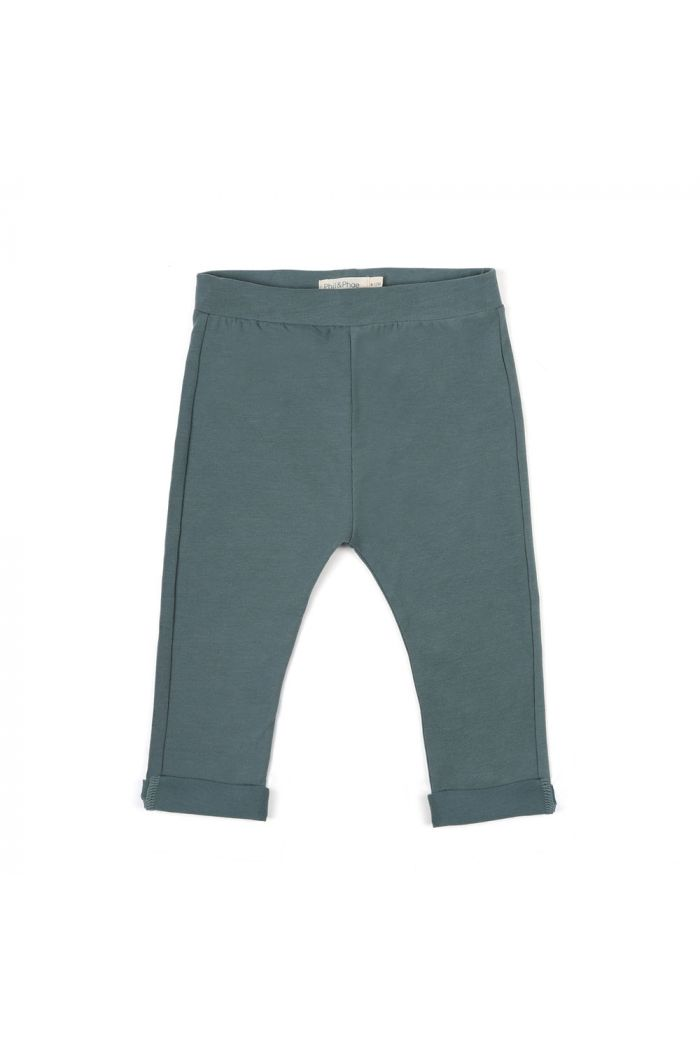 Phil&Phae Basic jersey pants Balsam Blue